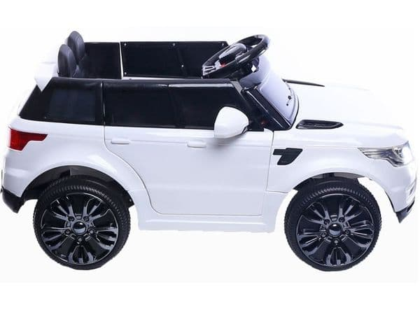 Junior Range Rover HSE Style White   12v battery powered kids jeep sit & ride-in TOY car